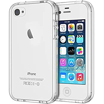 JETech Case for iPhone 4 and iPhone 4s Shock-Absorption Bumper Cover Anti-Scratch Clear Back  HD Clear