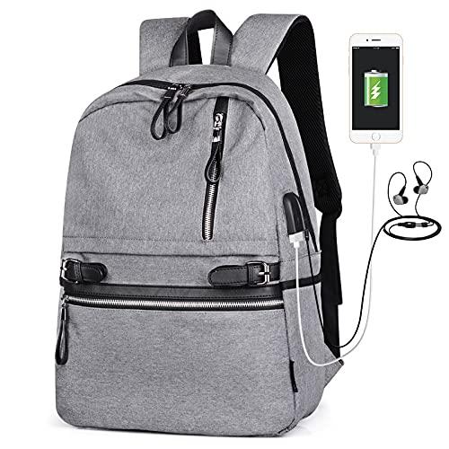 QIANJINGCQ Zaino moda, versatile, tempo libero, ricarica USB, zaino da viaggio per esterni di grande capacità, multifunzione, impermeabile e resistente all'usura