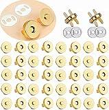 100 set di bottoni magnetici a pressione da 18 mm – ideali per cucito, artigianato, borsellini, borse, abiti, cuoio