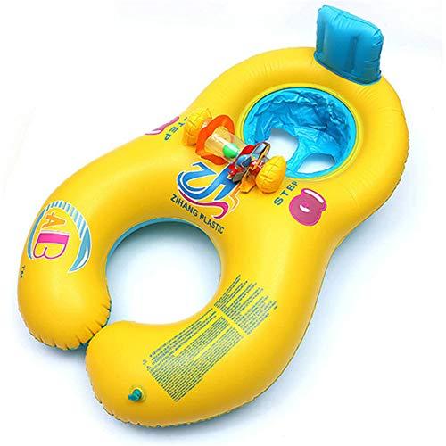 Kaned Anillo de natación para Padres e Hijos, Verano Playa Agua Familias Flotadores de Piscina para Adultos y niños
