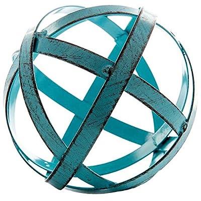 Blue Metal Band Decorative Sphere