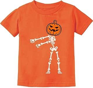 Floss Dance Jack O' Lantern Pumpkin Halloween Skeleton Toddler Kids T-Shirt