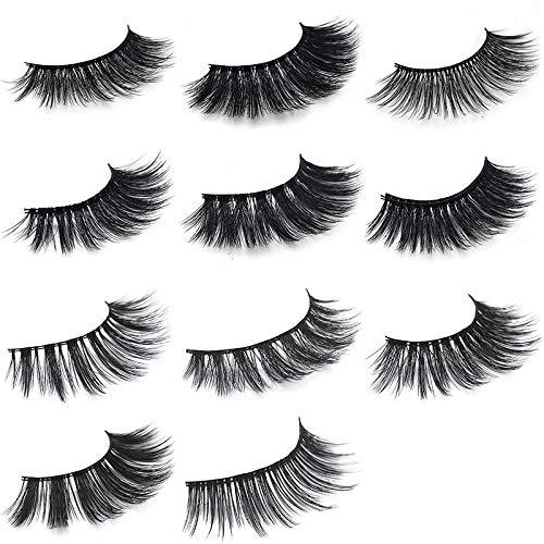 1Pair 3D Mink Hair Black False Eyelashes Makeup Cosmetics Handmade Thick Natural Long - 70