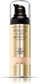 Max Factor Ageless Elixir Foundation 2n1 , Light Ivory 40