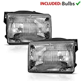 AmeriLite for 1993-1998 Jeep Grand Cherokee SUV Headlights Factory OE Style Replacement Headlamps Assembly Main Kit Pair - Driver and Passenger Side