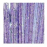 ave split Decorative Door String Curtain Wall Panel Fringe Window Room Divider Blind Divider Tassel Screen Home 100x200centimete (Light Purple18)