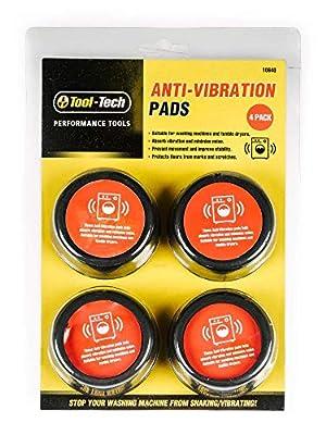 Anti Vibration Pads for Washing Machine feet - Reduces washing machine vibration - Set of 4