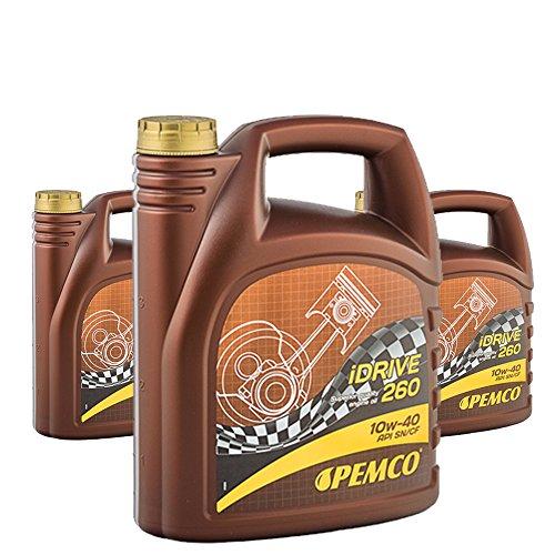 Pemco 3 x 5L iDrive 260/10W-40 Motorenöl Teilsynthetik