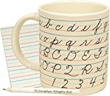 Penmanship Coffee Mug - All of the Cursive Letters as well as Instructions for How to Write Them - Comes in a Fun Gift Box