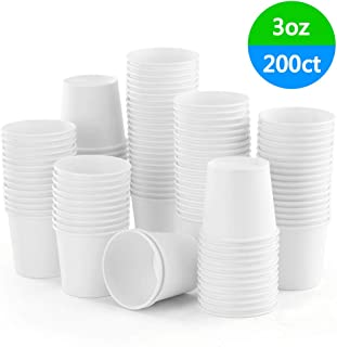 Eupako 3 oz White Paper Cups Small Disposable Sample Cups 200 Count