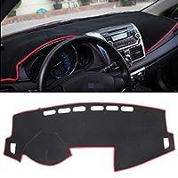 車の内装の保護ステッカー ダークマットカーダッシュボードカバーカーライトパッドインストルメントパネルランドクルバー用日焼け止めカーマット(モデルと年にご注意ください) (色 : Red)