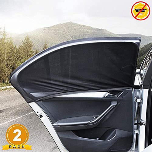 Universal Car Window Sun Shades, 2 Pack Car Rear Side Window Sunshades for Baby Family Pet, Car Window Covers Fit Most Cars/SUVs