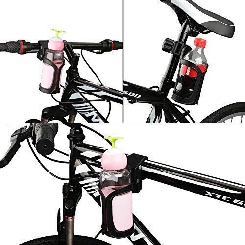 AumoToo Fahrrad Getränkehalter, 360 Grad Rotation Getränk Flaschenhalter Kinderwagen Cup Halter für Fahrräder, Mountainbikes, Kinderwagen und Rollstuhl - 6