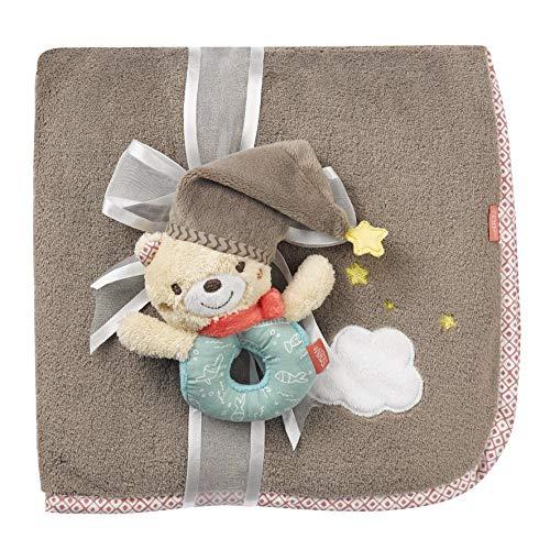 FEHN 060348 knuffeldeken beer/knuffeldeken - om te knuffelen, als kruiponderlegger, snoeffeldoek of deken voor thuis en onderweg