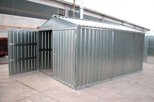 sapil Box casetta in lamiera zincata con Struttura in Acciaio zincato mt. 5,07x2,60x2,11 h con Porta a Due Ante MOD. SAPILBOX