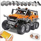 XJJY Technic Avtoros Shaman 8x8 ATV Off-Roadie Set, Conjunto de construcción de Camiones de 2.4 g RC, 2500 Bloques técnicos y 8 Motores compatibles con Lego