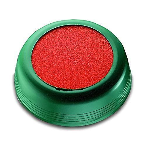 Läufer 69238umettatore per umettare briefumschägen o Francobolli, rotondo, 10.5cm elastiche verdi cellulare, spugna arancioni