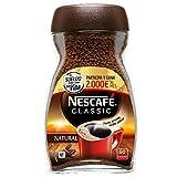NESCAFÉ CLASSIC NATURAL todo aroma y sabor, café soluble, 100% café, frasco de cristal 100g