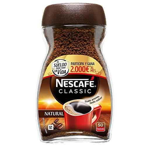 NESCAFÉ Café Classic Soluble Natural, Bote de cristal, Paquete de 12x100g de...
