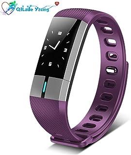 Fitness Tracker, pulsera inteligente con monitor de frecuencia cardíaca, monitor de presión arterial, ECG, reloj inteligente Podómetro, actividad Sports Tracker Bluetooth para Android y iOS