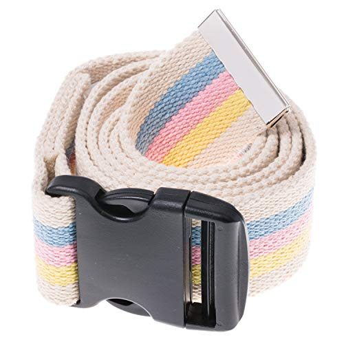 COW&COW Gait Belt 54inch - Transfer and Walking Assistance with Quick Release Buckle for Caregiver Nurse Therapist 2 inches(Pastel stripee)
