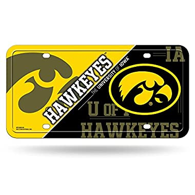 Rico NCAA Iowa Hawkeyes Metal License Plate Tag