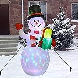 Aiboria - Muñeco de nieve inflable de 5 pies de Navidad,...