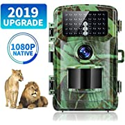 Trail Camera 1080P 12MP Game Camera for Hunting Camera with Night Vision IP56 Waterproof 120°Wide Angle Lens Deer Camera Scouting Camera for Monitor/Wildlife Camera
