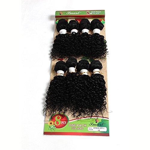 Eunice hair Ensemble de 8 extensions brésiliennes Cheveux brésiliens Cheveux frisés Tissage 100 % naturel