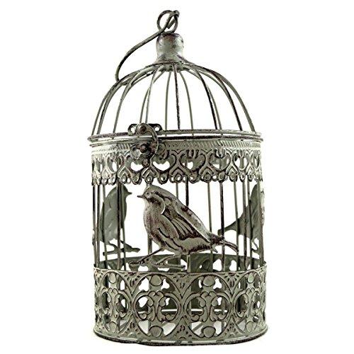 2er Set Cage Déco Métal Shabby pour Oiseaux Plantes Style Antique Neuf