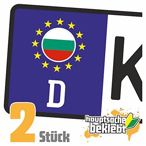 Pegatinas para matrícula de Bulgaria