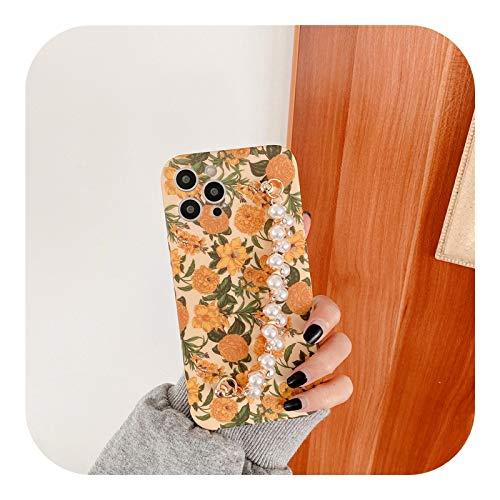 Jinyy 人気度 For iPhone 12 ProMaxケース用ヴィンテージフラワーパールブレスレットハンドホルダーカバーFor iPhone12 Mini 11 Pro Max 8 7 Plus XR X XS Max-1-For iPhone 11
