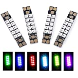 iFlight 4pcs FPV 5V Programmable RGB LED Lights Strip + 40A PDB 3535 Multi-Colors Race Wire for FPV Racing Drone Quadcopter(10 Lamps Board)
