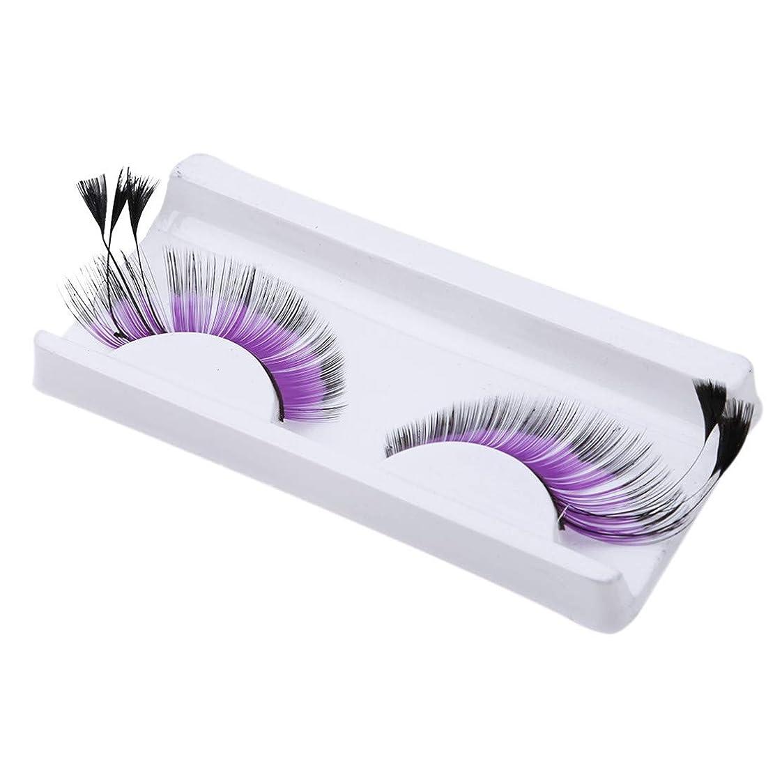 ファントム南極花に水をやるBotreelife つけまつげ自然で太い偽のまつげエクステンション化粧道具、紫