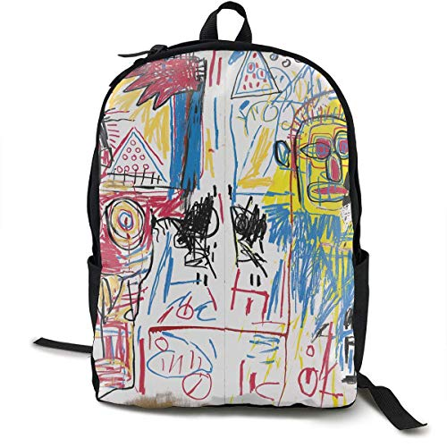 Mochila Mochila de Viaje Jean Michel Basquiat Backpack Campus School Bag Casual Backpack Gym Travel Hiking Canvas Backpack