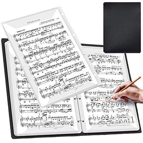 【ダサズニカケーる】(脱着式 黒)【A-Flat】楽譜を取り出さずに書き込み可能 リングファイル A4 音楽ファイル (リングファイル(40ページ 着脱式), 黒)
