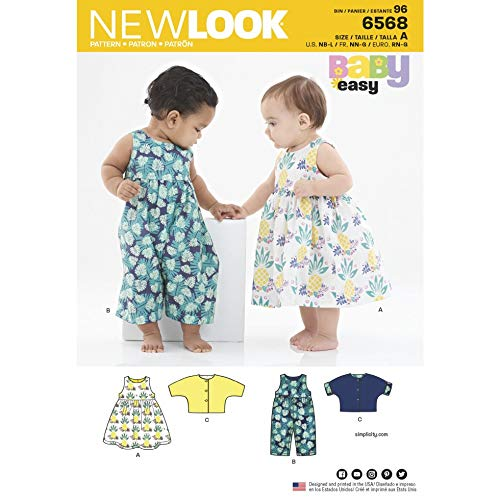New Look Schnittmuster 6568 Latzhose, Tops, Kleider A (NB-S-M-L)