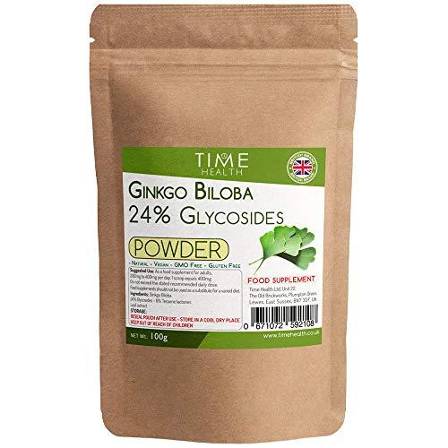 Ginkgo Biloba Extrakt Pulver – 24 % Glycoside (100 g Pulver pro Beutel)