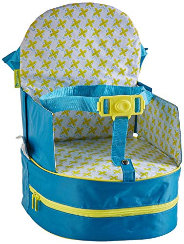 Badabulle Sitzerhöhung, für unterwegs und für Stuhl, als Rucksack tragbar, türkis, 10 cm, blau