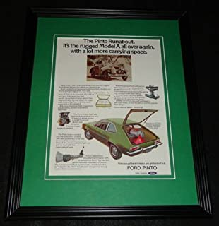 1973 Ford Pinto Framed 11x14 ORIGINAL Vintage Advertisement