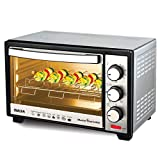 Inalsa Oven Masterchef 24RSS OTG (24L)-1600W with Motorised Rotisserie & Temperature Selection|6 Stage Heat Selection |Stainless-Steel Finish,(Silver)