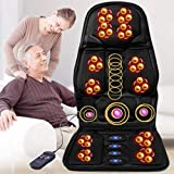 Shiatsu Back Massager with Heat - Massage Chair Pad Deep Kneading Full Back Massager Massage seat Cushion for Home Office use,Black