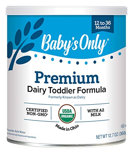 Baby's Only Organic Premium Dairy Toddler Formula, 12.7 Oz (Pack of 6) | Non-GMO | USDA Organic | Clean Label Project Verified | Brain & Eye Health