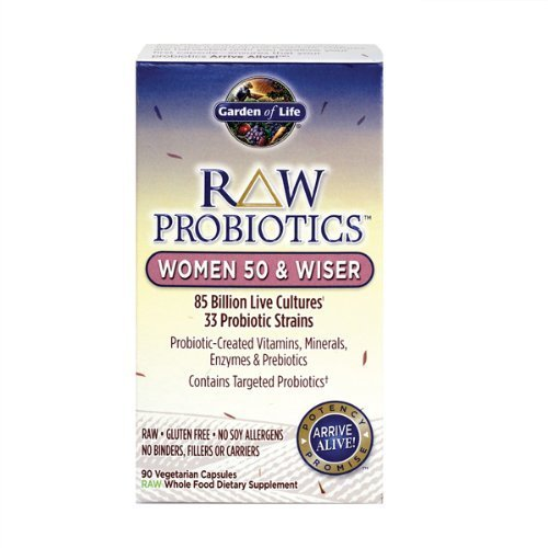 GARDEN OF LIFE RAW PROBIOTICS WOMEN 50 & WISER 180