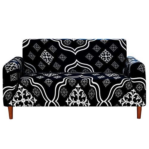 Sofabezug L Form, Jacquard Stretch Spandex Couchbezug Sofaüberwurf Sofa überzug Sofahusse Abdeckung (1 Sitzer,A-8)