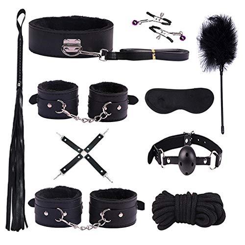 Traje de cuero impermeable de 10 piezas, bolsa de herramientas multifunción, Sex-Y Toys4couple, StḁndF-Û-r-ň-Ï-turÊSw-Ï-ň-gsB-Ṏ-ň-d-ḁ-gḔ, Ḉ- Ṏ-ù -plḔsT -Ṏ-ysStr-ḁpsB-ḔdṎ-pḔnMṎ-ùthB-Â-llG-â-g-negro