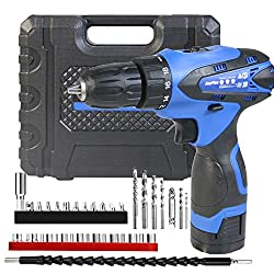 commercial Powerful cordless drill with 1500 mH lithium-ion battery, 3/8 inch keyless drill … wen cordless drill