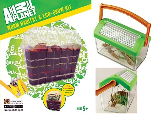 EDU-TOYS Wurmhaus und Insektenhaus, das 2er Set für kleine Naturforscher mit extra Lupenheft