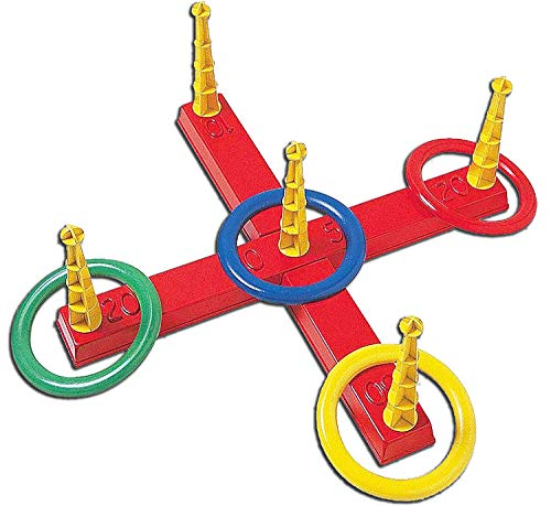 Idena 7408799 Ringwurfspiel mit 5 Ringen