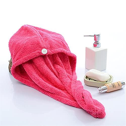 TRSX Toallas de baño Cabello de niña Sombrero de Secado de Pelo de Secado rápido Toalla de Pelo Gorra Sombrero Sombrero de baño Microfibra sólido absorción Turbante Pelo seco Tapa